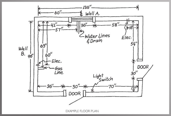 Example Floor Plan Meaurement